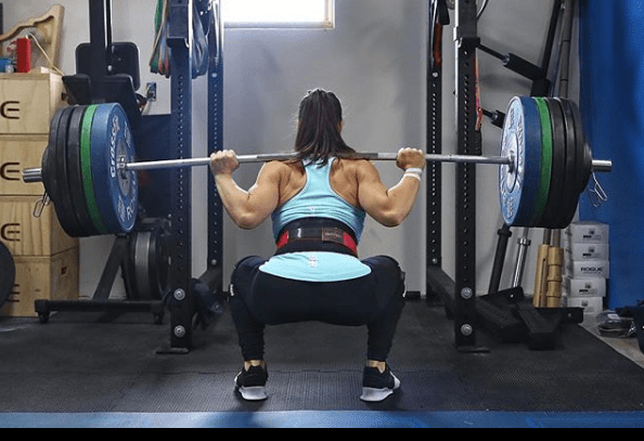 Follow Camille Leblanc-Bazinet's favorite warm-up for heavy squat workouts