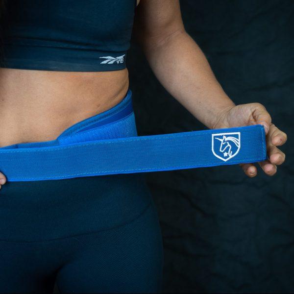 Feroce blue weightlifting belt (Camille leblanc-bazinet)