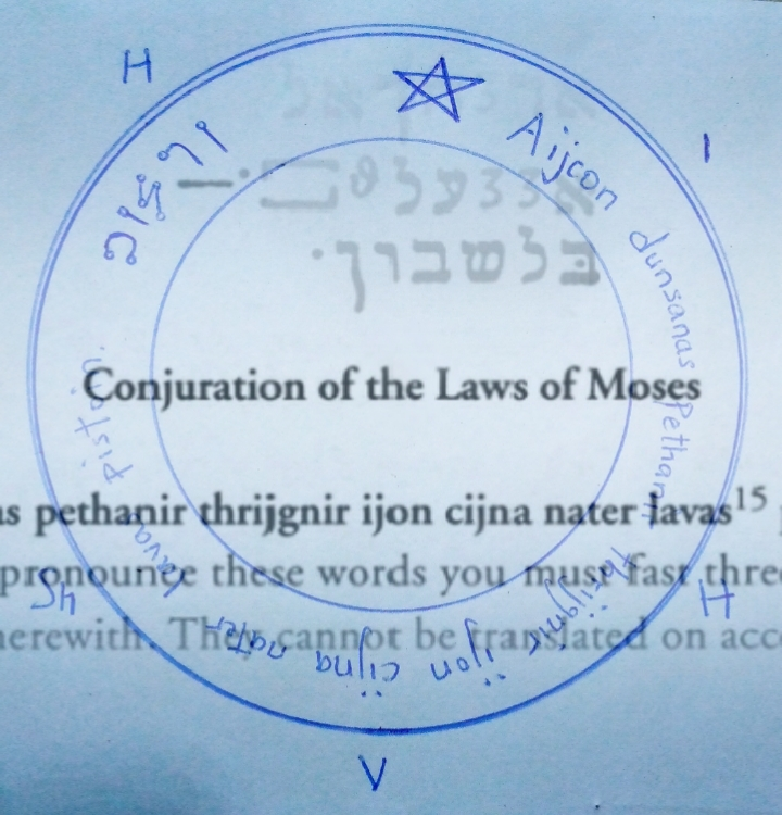 Read more about the article Conjuration Of Moses Law: Talisman.