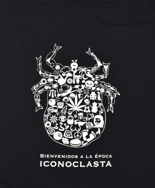 Camiseta-Hombre-Los-Delinquentes-Bienvenidos-Negra-Detalle - copia