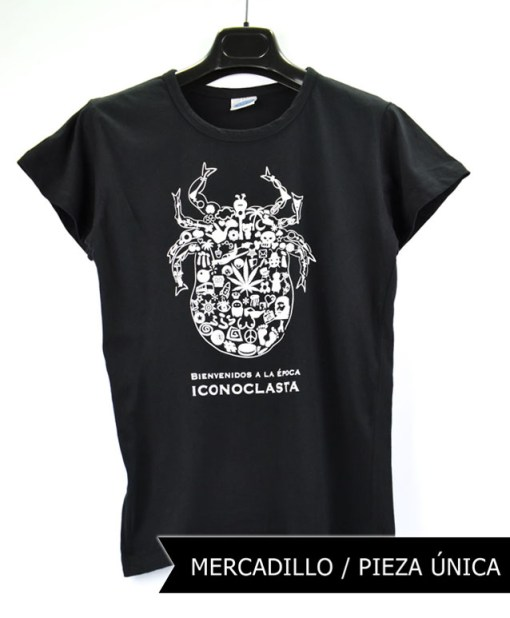 Camiseta-mujer-Los-Delinquentes-Bienvenidos-Negra