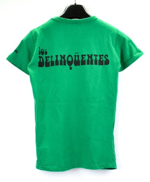 Camiseta-mujer-Los-Delinquentes-Bienvenidos-verde-atras