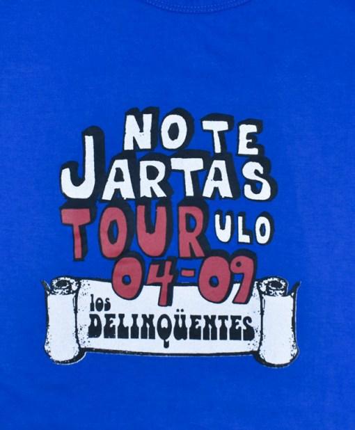 Camiseta-mujer-Los-Delinquentes-No-te-jartas-azul-detalle