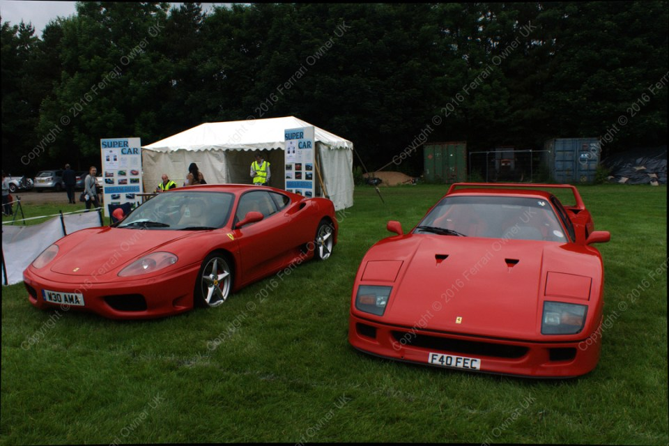 My Ferrari 360 Modena and a Ferrari F40, at the Bath Festival of Motoring
