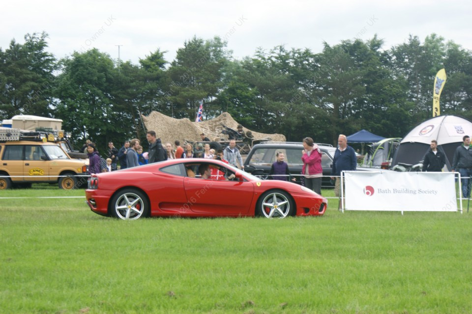 Display lap of honour in my Ferrari 360 Modena, at the Bath Festival of Motoring