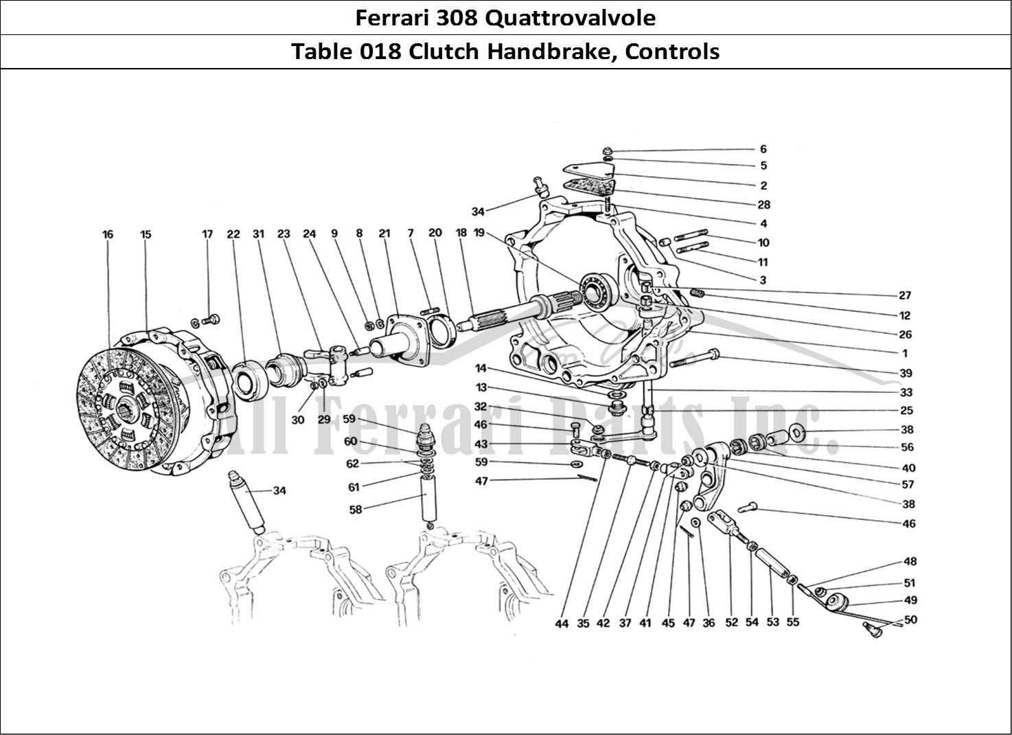 Buy Original Ferrari 308 Quattrovalvole 018 Clutch Handbrake Controls Ferrari Parts Spares