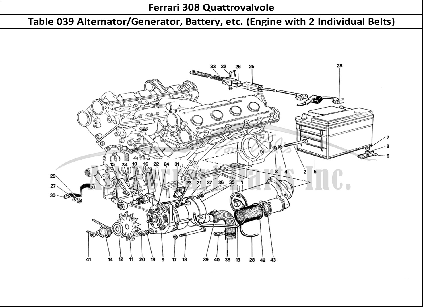 Buy Original Ferrari 308 Quattrovalvole 039 Alternator