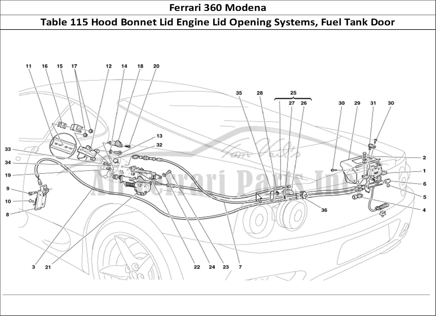 Buy Original Ferrari 360 Modena 115 Hood Bonnet Lid Engine