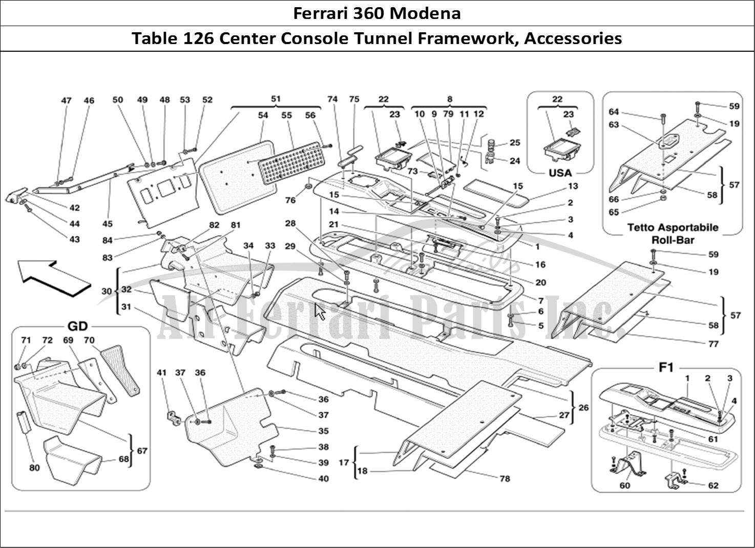 Buy Original Ferrari 360 Modena 126 Center Console Tunnel