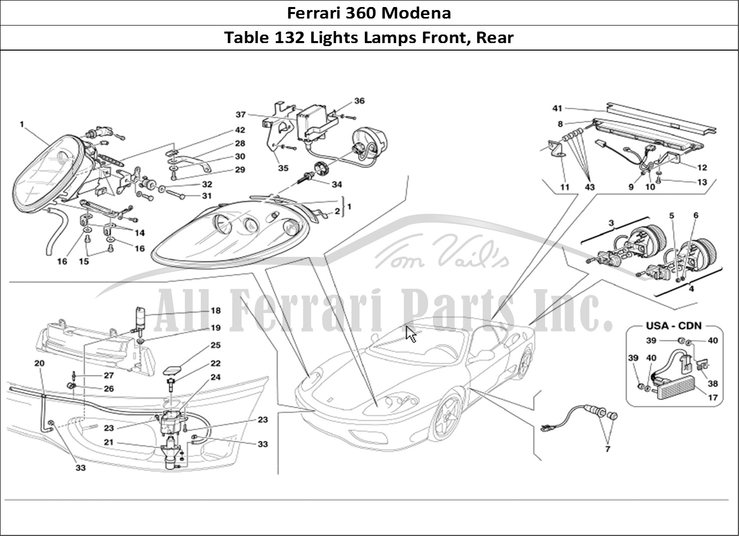 Buy Original Ferrari 360 Modena 132 Lights Lamps Front