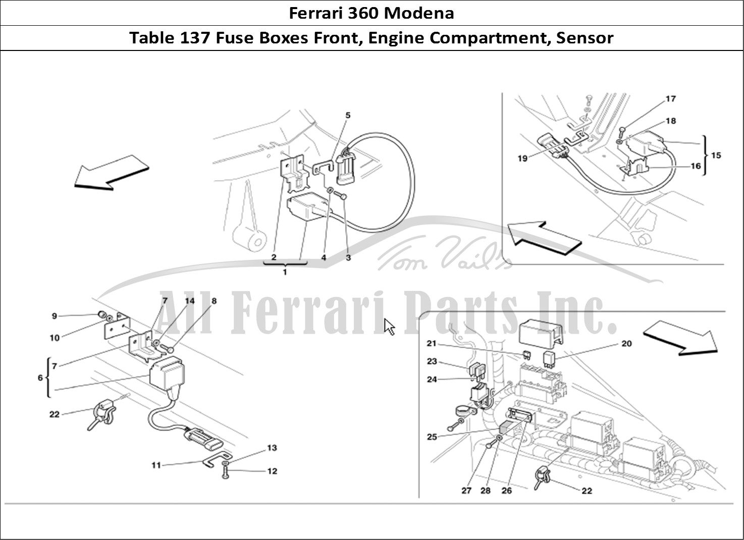 Buy Original Ferrari 360 Modena 137 Fuse Boxes Front