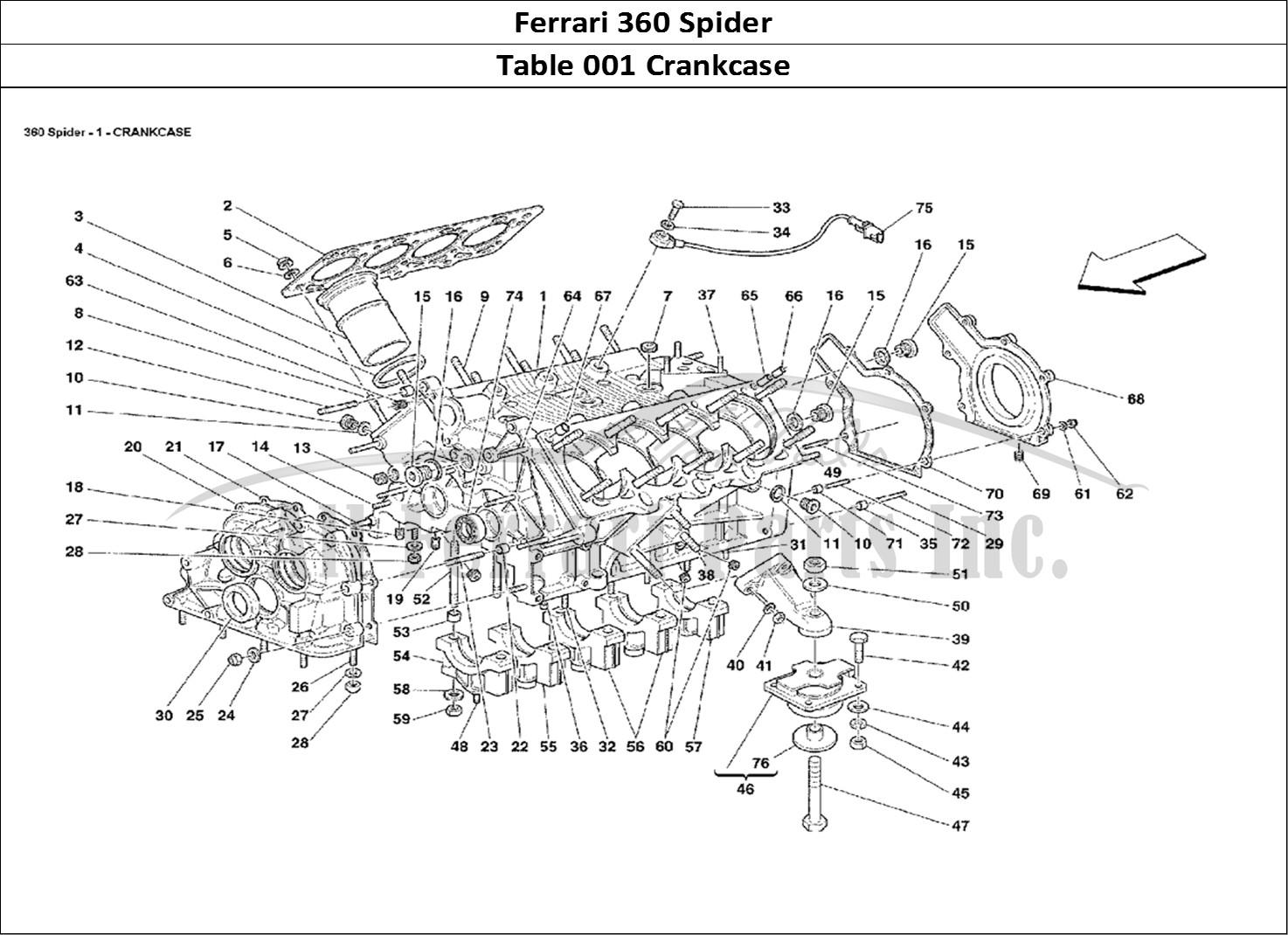Buy Original Ferrari 360 Spider 001 Crankcase Ferrari
