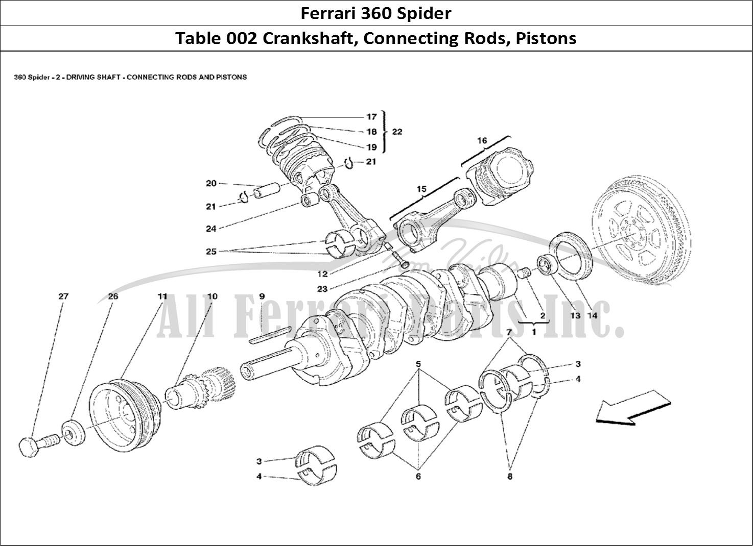 Buy Original Ferrari 360 Spider 002 Crankshaft Connecting Rods Pistons Ferrari Parts Spares