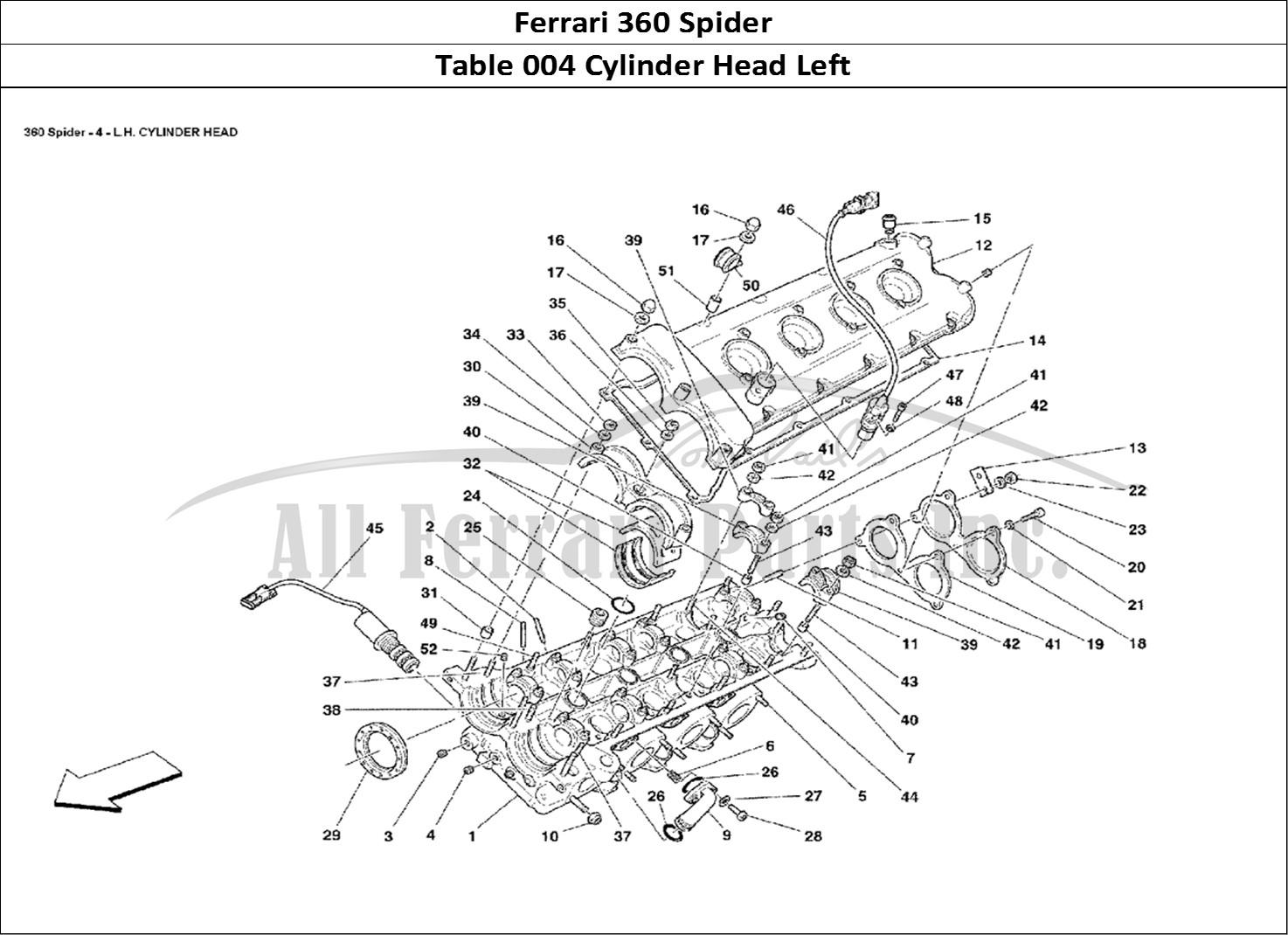 Buy Original Ferrari 360 Spider 004 Cylinder Head Left