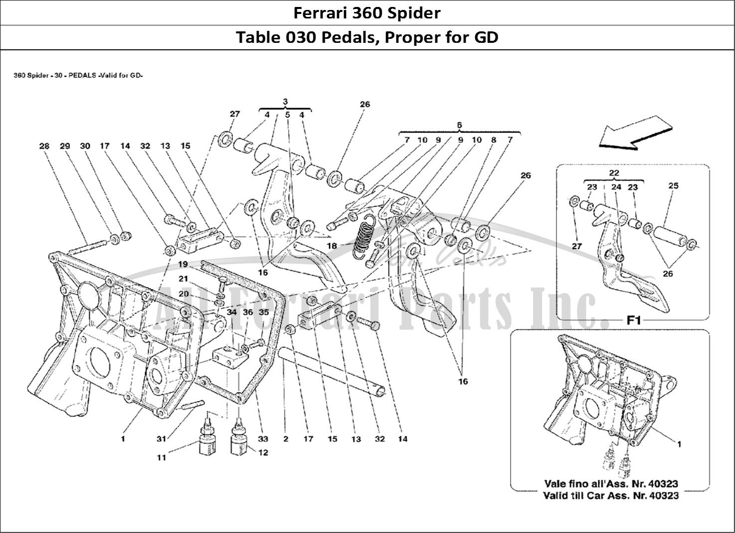 Buy Original Ferrari 360 Spider 030 Pedals Proper For Gd
