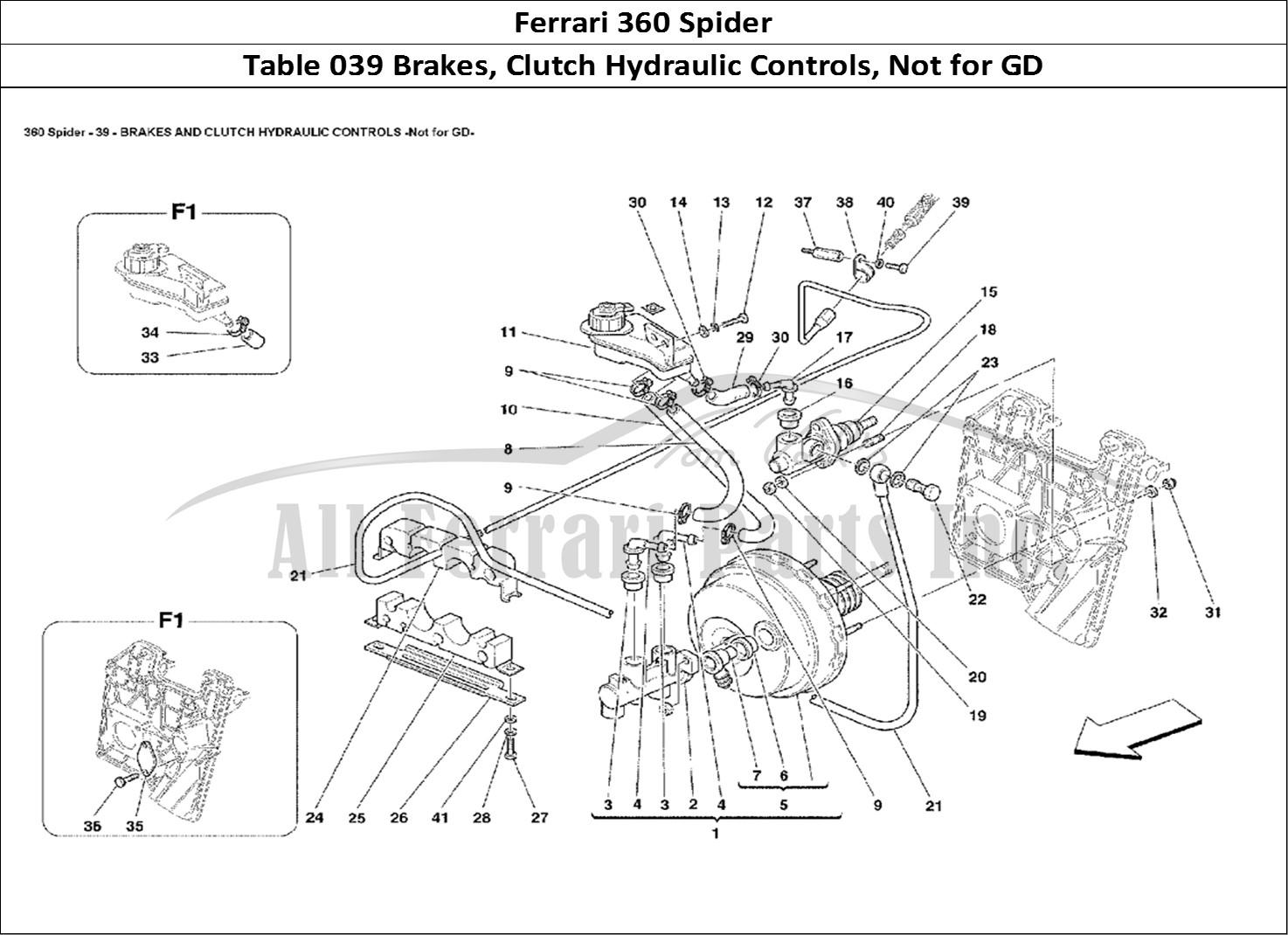 Buy Original Ferrari 360 Spider 039 Brakes Clutch Hydraulic Controls Not For Gd Ferrari Parts