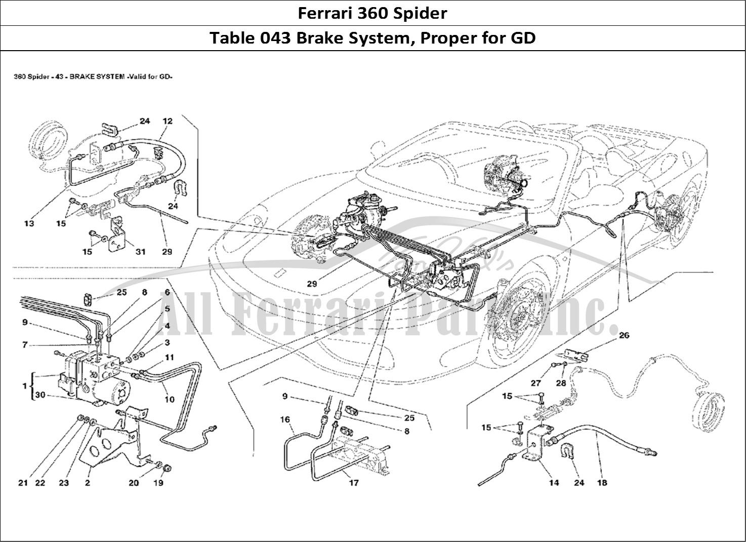 Buy Original Ferrari 360 Spider 043 Brake System Proper