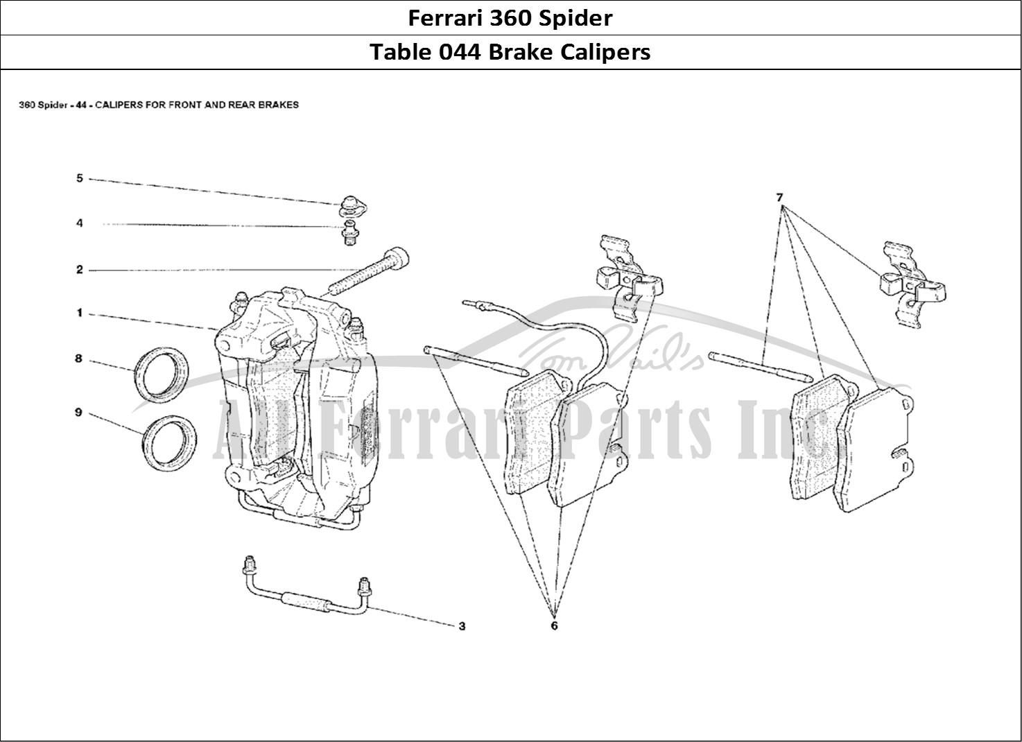 Buy Original Ferrari 360 Spider 044 Brake Calipers Ferrari Parts Spares Accessories Online