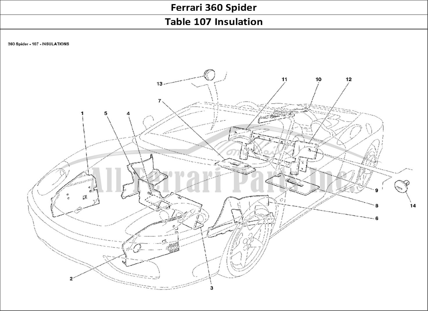 Buy Original Ferrari 360 Spider 107 Insulation Ferrari