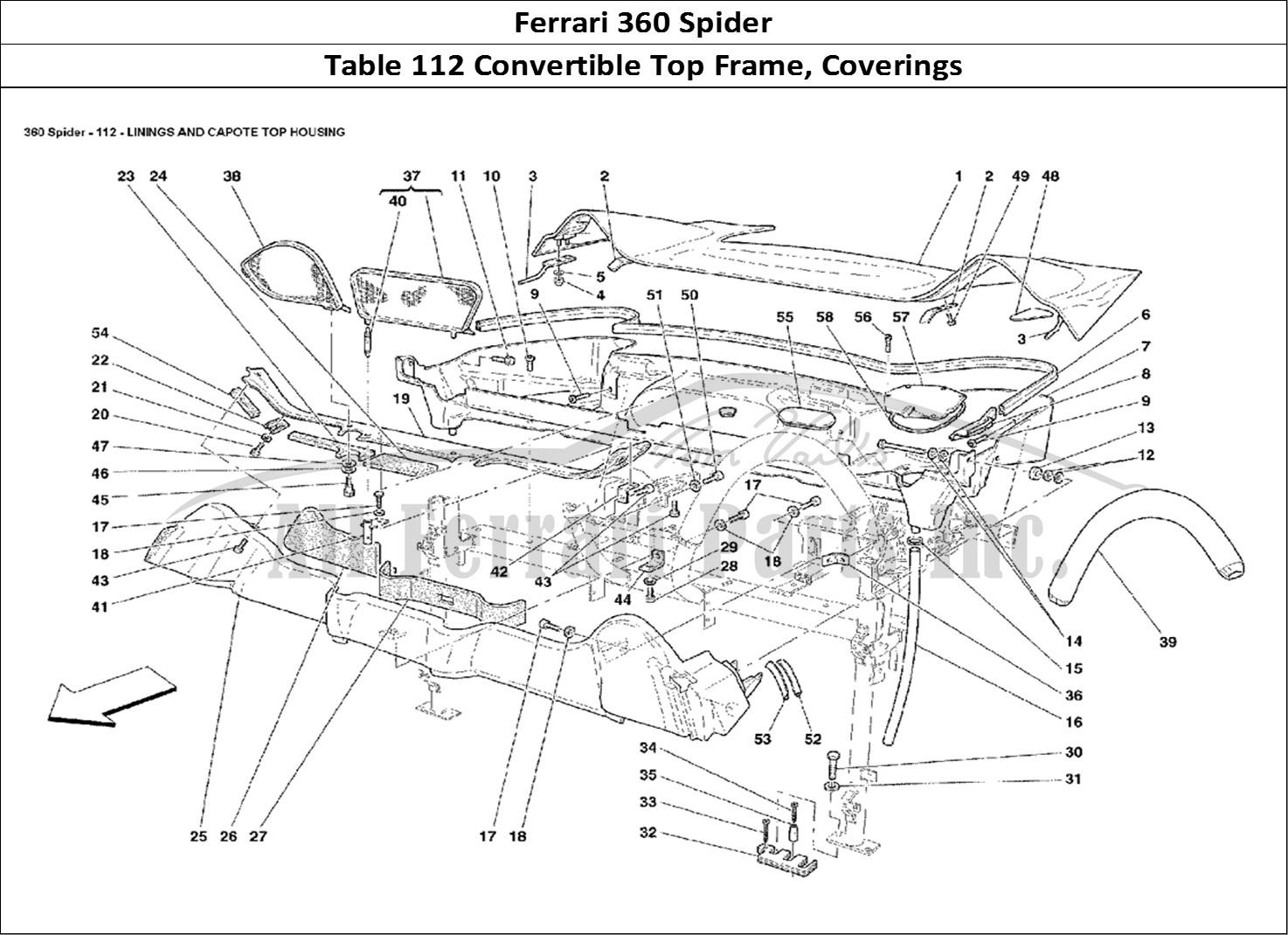Buy Original Ferrari 360 Spider 112 Convertible Top Frame
