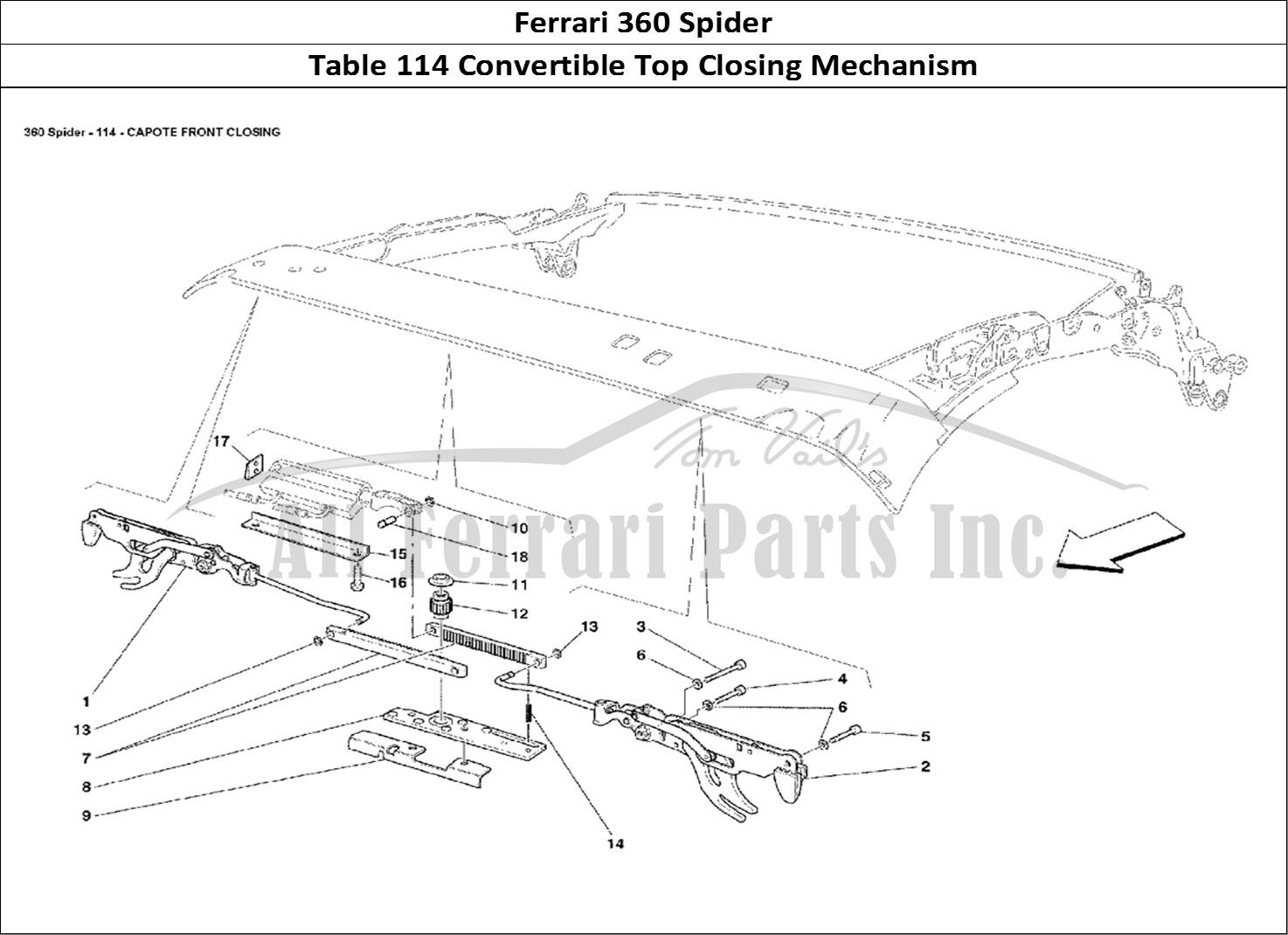 Buy Original Ferrari 360 Spider 114 Convertible Top
