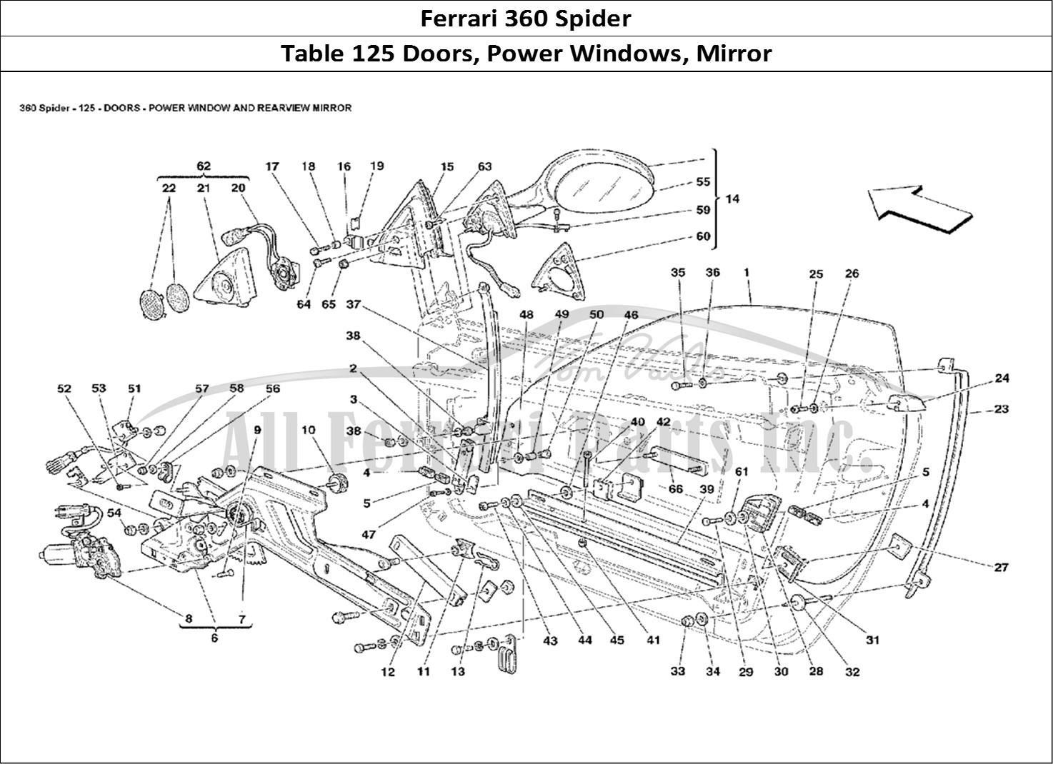 Buy Original Ferrari 360 Spider 125 Doors Power Windows