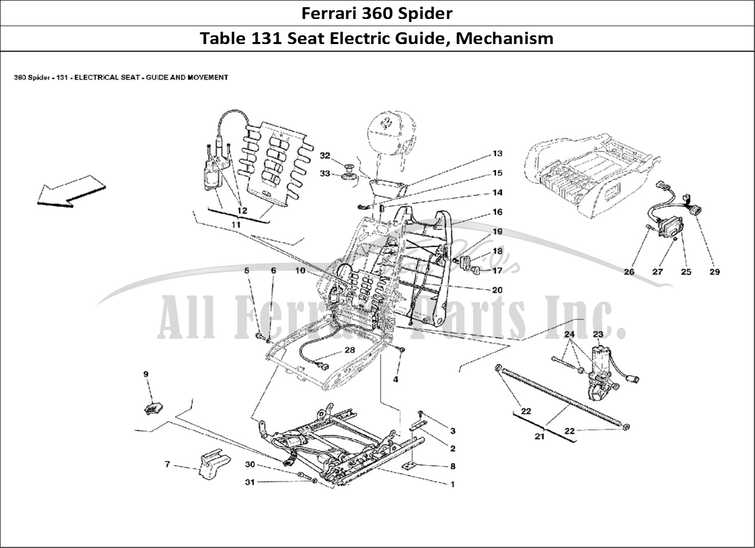 Buy Original Ferrari 360 Spider 131 Seat Electric Guide