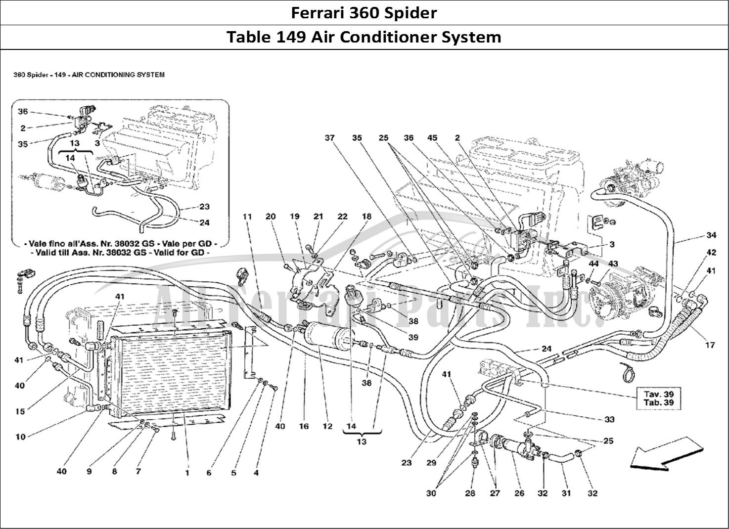 Buy Original Ferrari 360 Spider 149 Air Conditioner System Ferrari Parts Spares Accessories Online