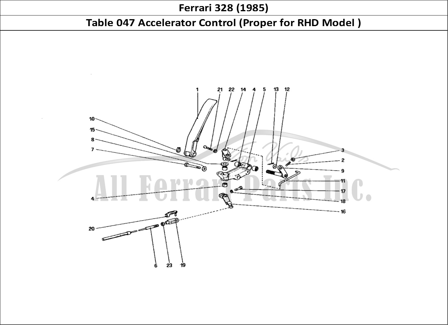 Buy Original Ferrari 328 047 Accelerator Control