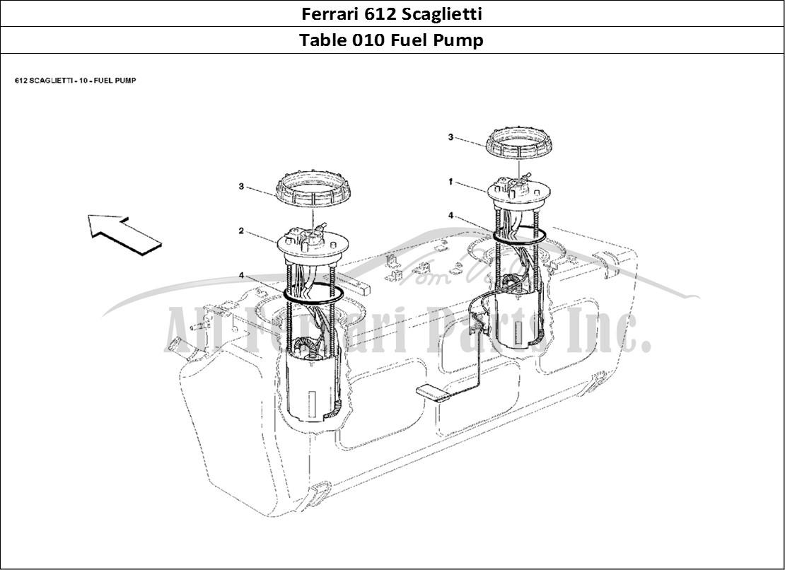 Buy Original Ferrari 612 Scaglietti 010 Fuel Pump Ferrari