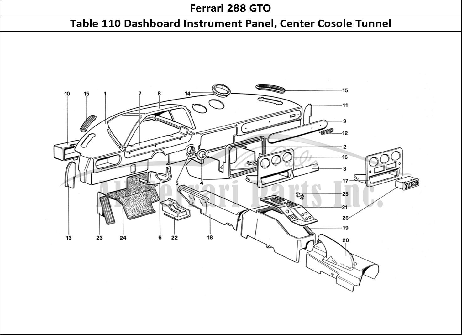 Buy Original Ferrari 288 Gto 110 Dashboard Instrument Panel Center Cosole Tunnel Ferrari Parts