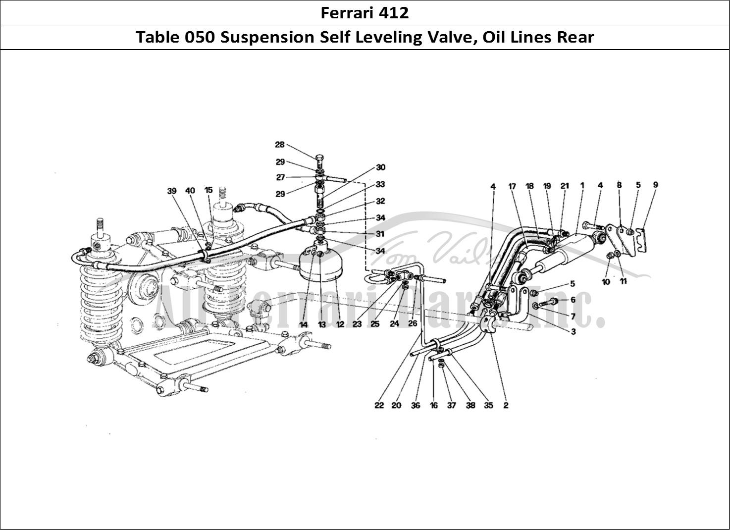 Buy Original Ferrari 412 050 Suspension Self Leveling Valve Oil Lines Rear Ferrari Parts