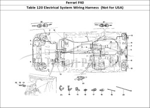 Buy original Ferrari F40 120 Electrical System Wiring