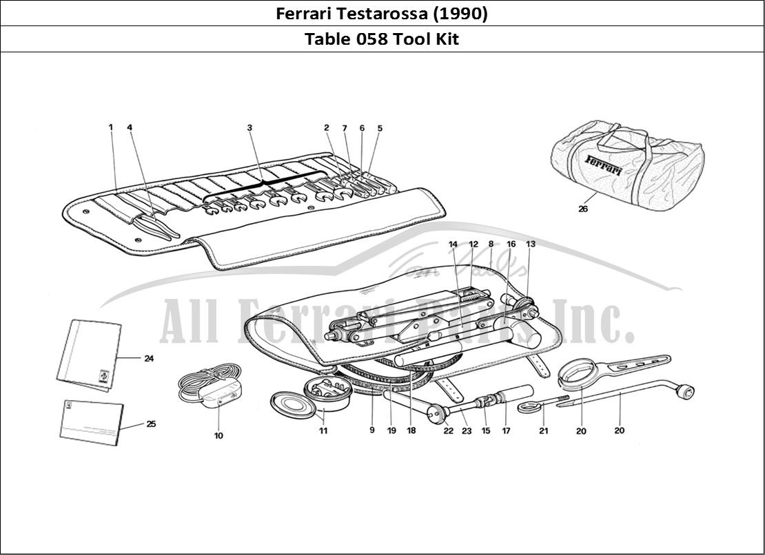 Buy Original Ferrari Testarossa 058 Tool Kit