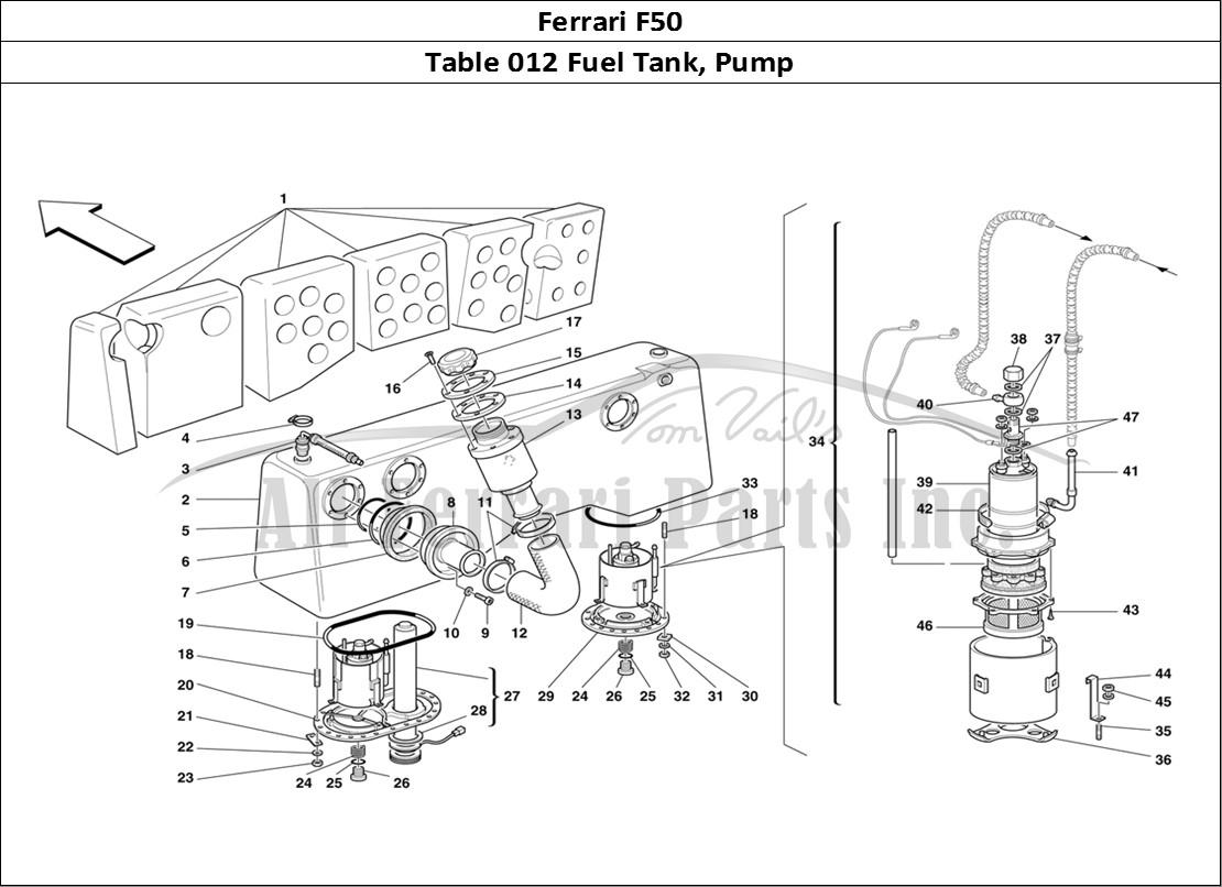 Buy Original Ferrari F50 012 Fuel Tank Pump Ferrari Parts