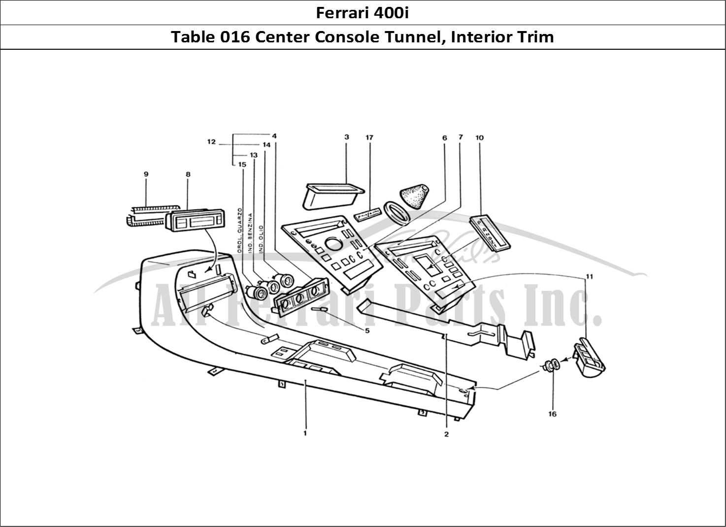 Buy Original Ferrari 400i 016 Center Console Tunnel