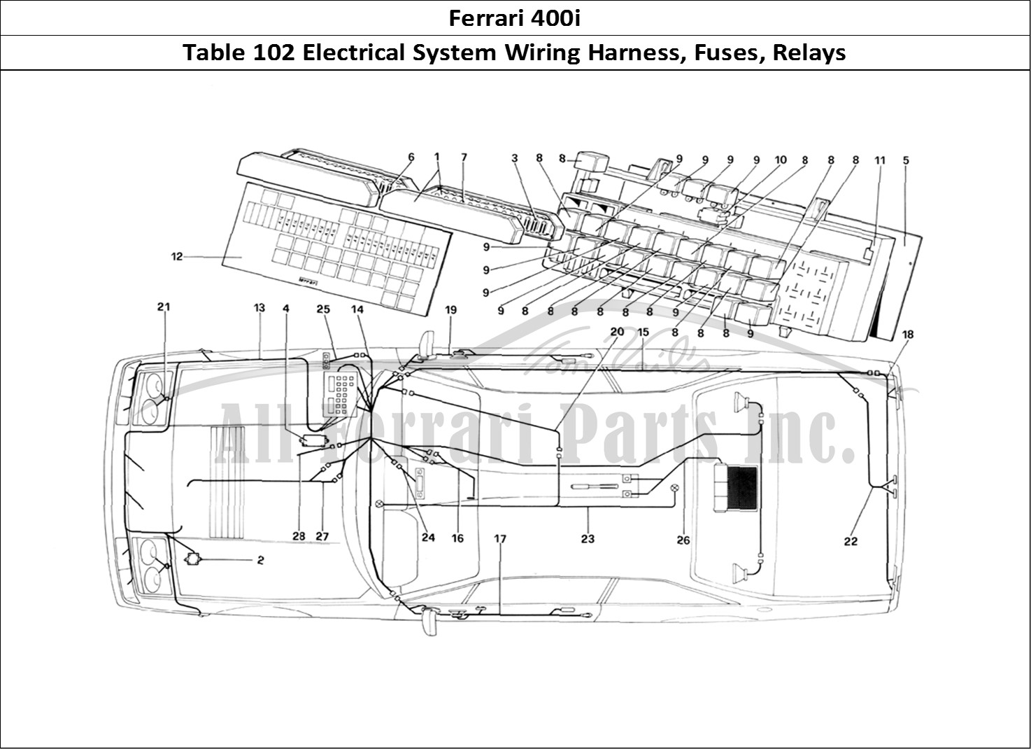 Buy Original Ferrari 400i 102 Electrical System Wiring