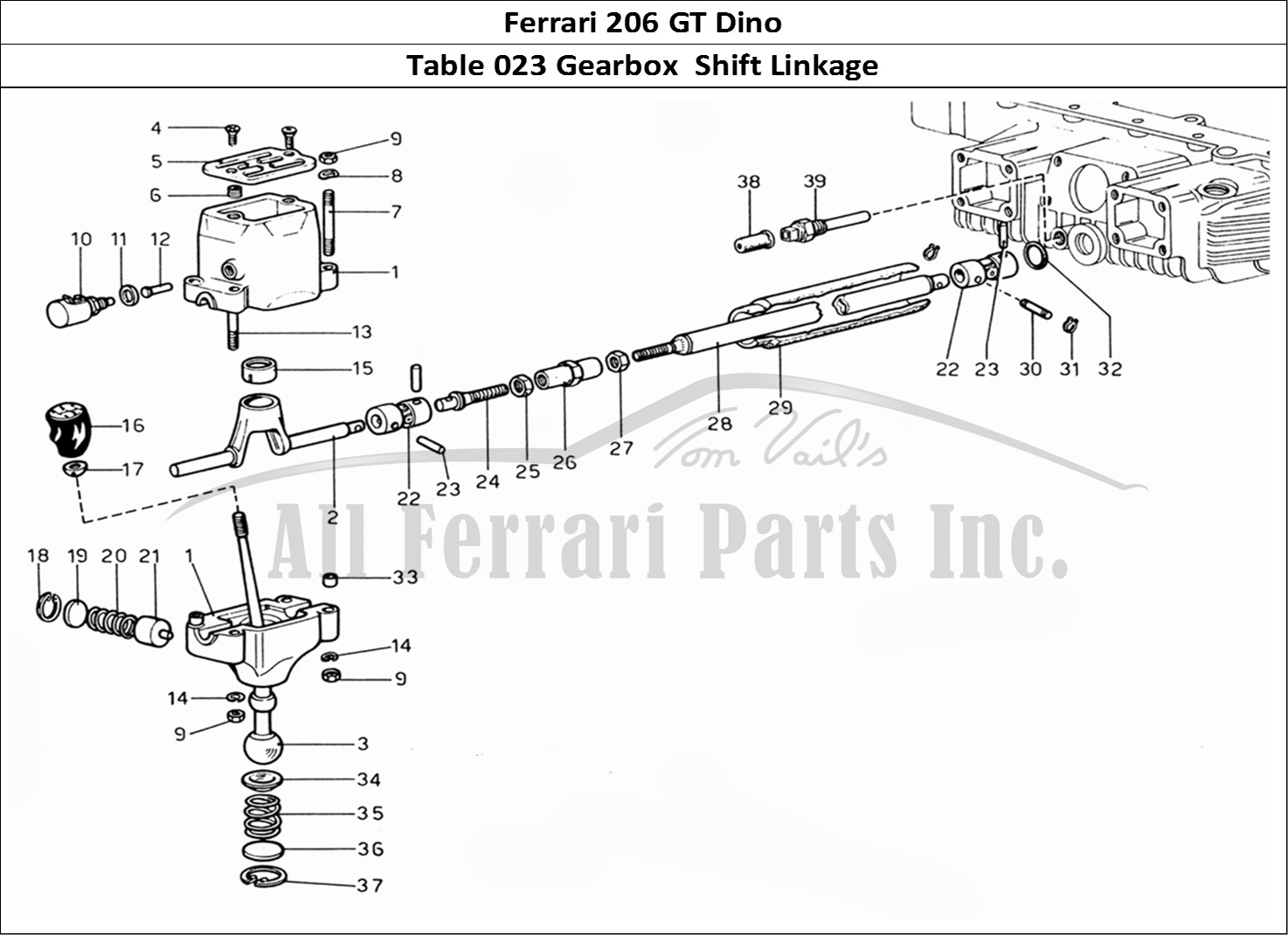 Buy Original Ferrari 206 Gt Dino 023 Gearbox Shift Linkage