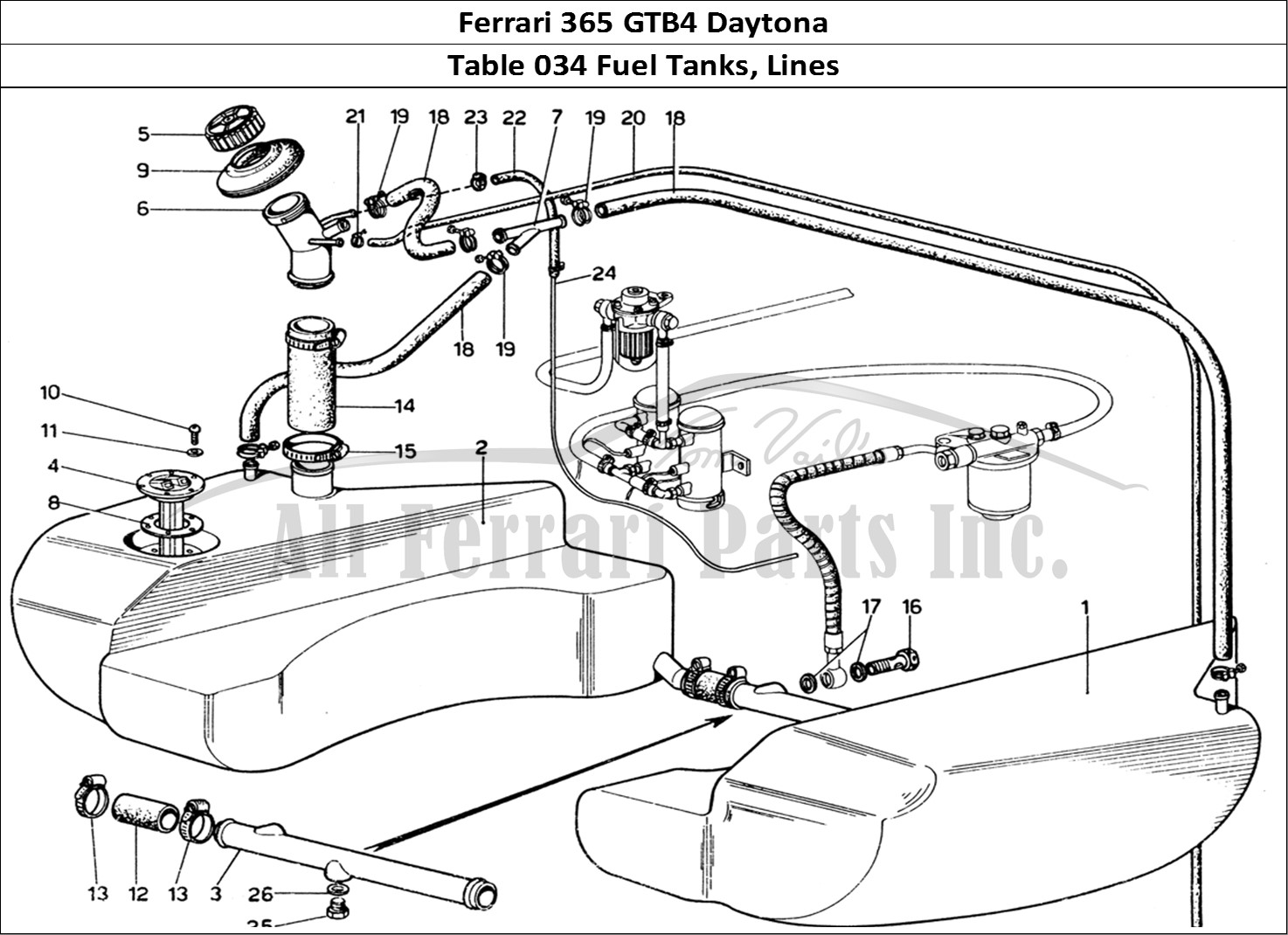 Buy Original Ferrari 365 Gtb4 Daytona 034 Fuel Tanks