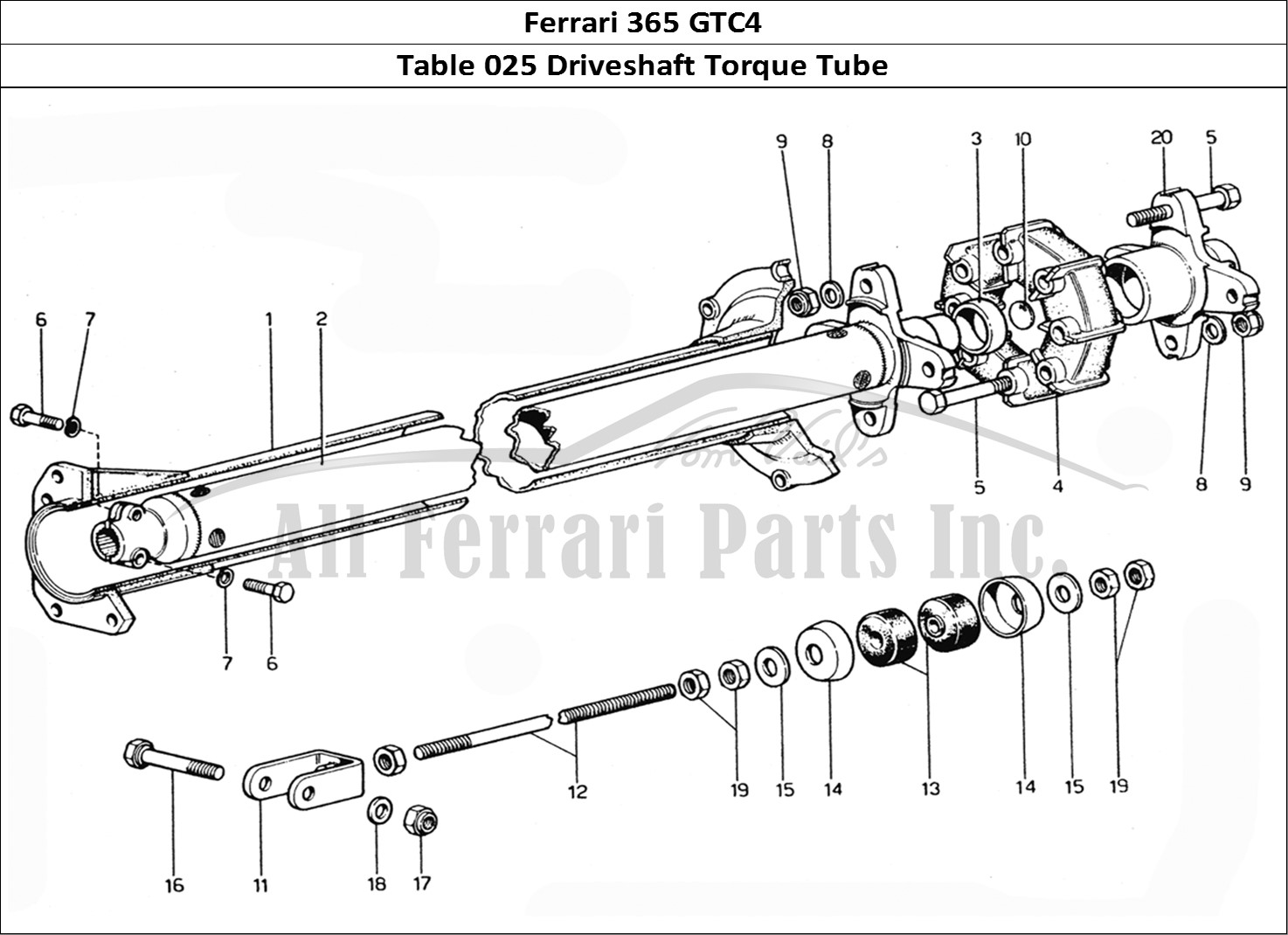 Buy Original Ferrari 365 Gtc4 025 Driveshaft Torque Tube