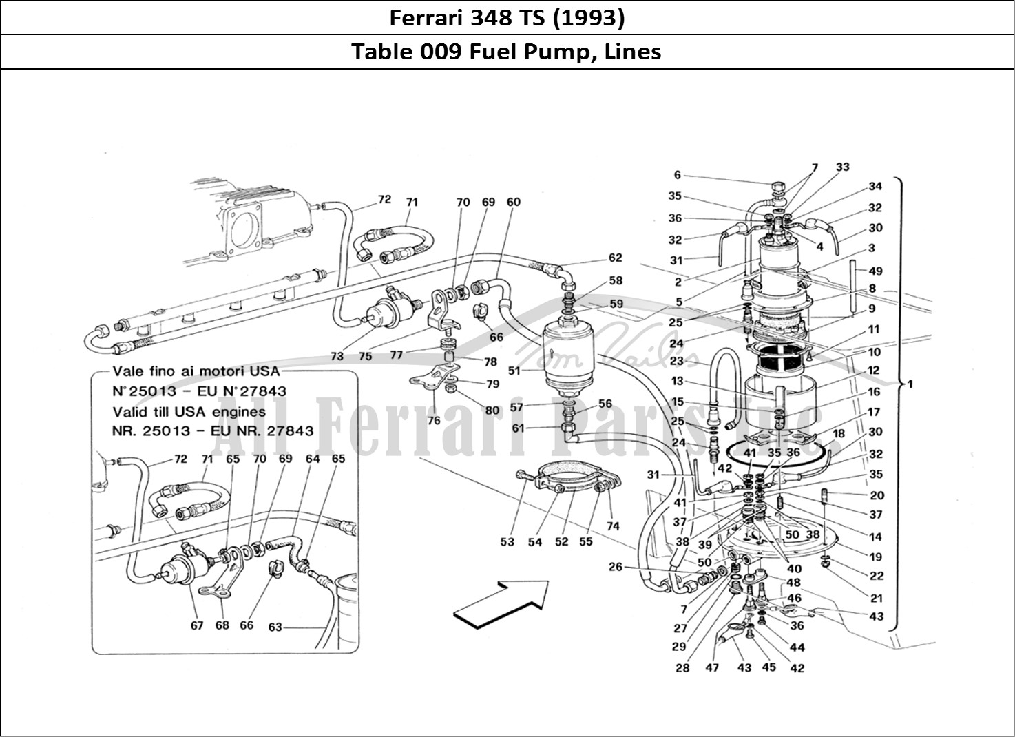 Buy Original Ferrari 348 Ts 009 Fuel Pump Lines