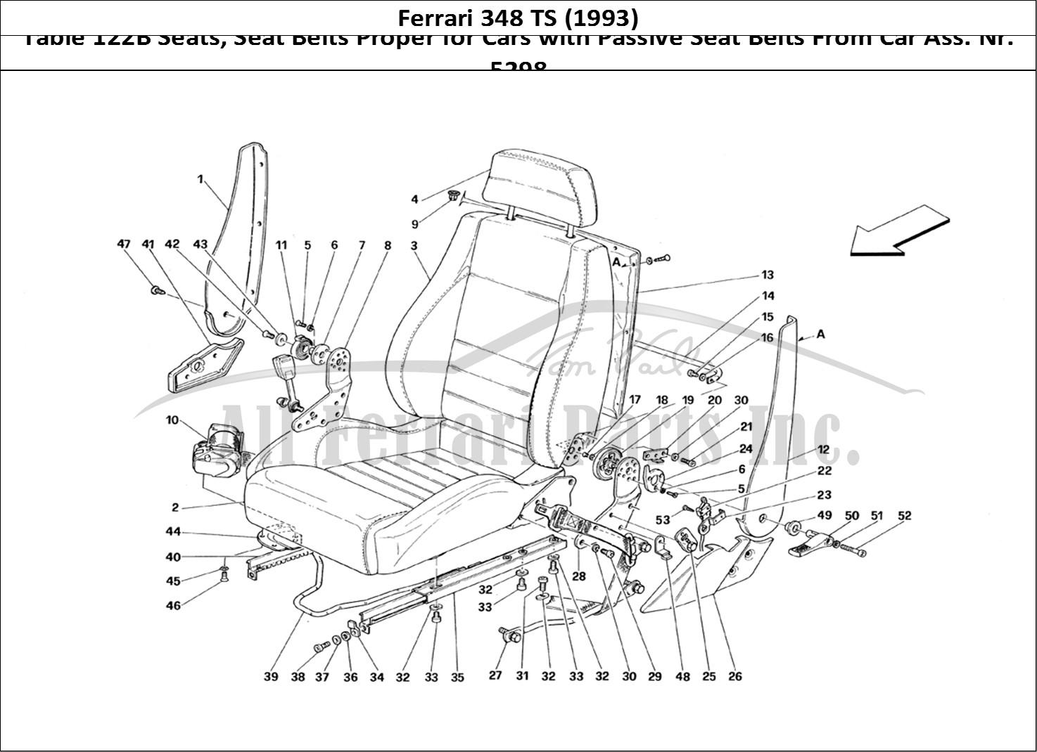 Buy Original Ferrari 348 Ts 122b Seats Seat Belts