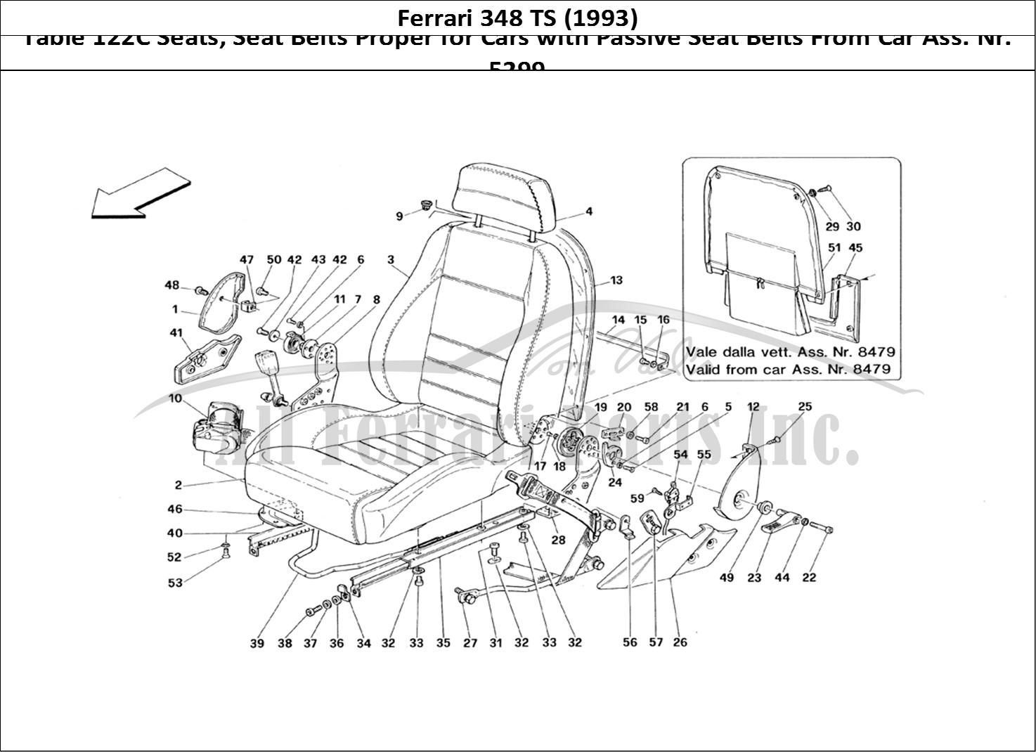 Buy Original Ferrari 348 Ts 122c Seats Seat Belts
