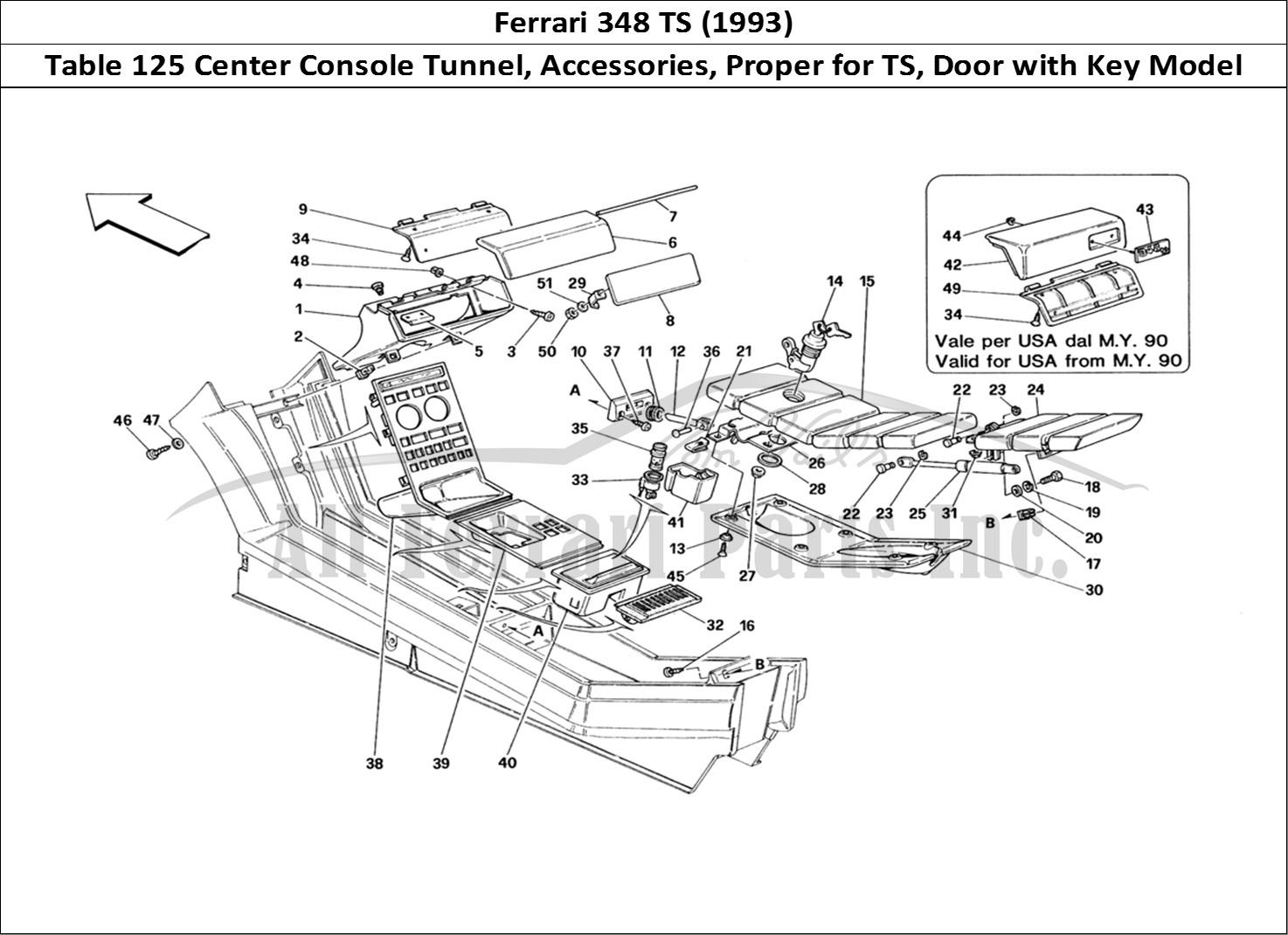 Buy Original Ferrari 348 Ts 125 Center Console