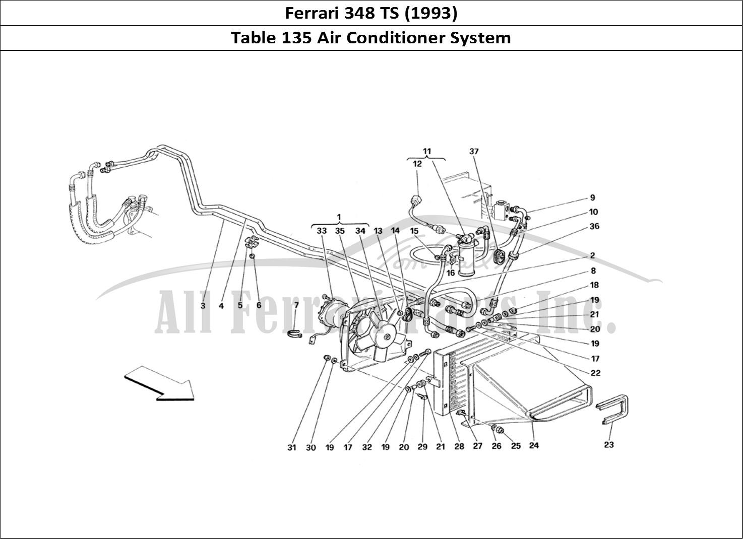 Buy Original Ferrari 348 Ts 135 Air Conditioner System Ferrari Parts Spares Accessories