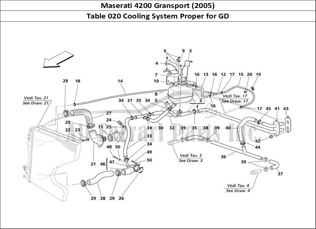 Buy Original Maserati Gransport 020 Cooling