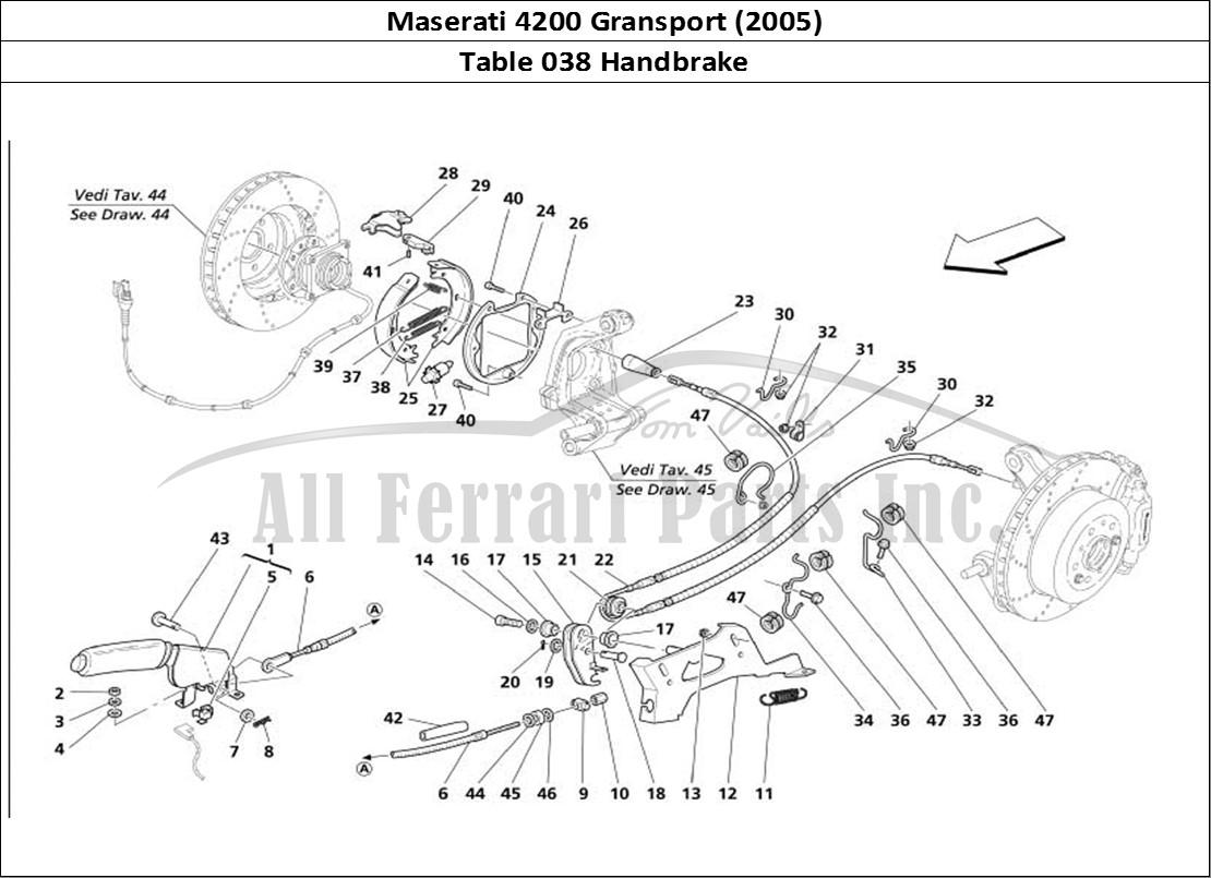 Buy Original Maserati Gransport 038 Handbrake