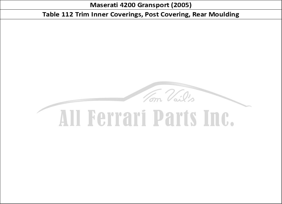 Buy Original Maserati Gransport 112 Trim Inner Coverings Post Covering Rear