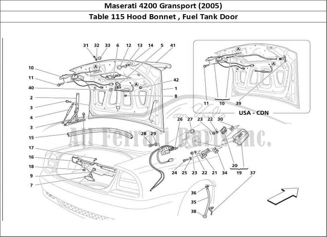 Buy Original Maserati Gransport 115 Hood