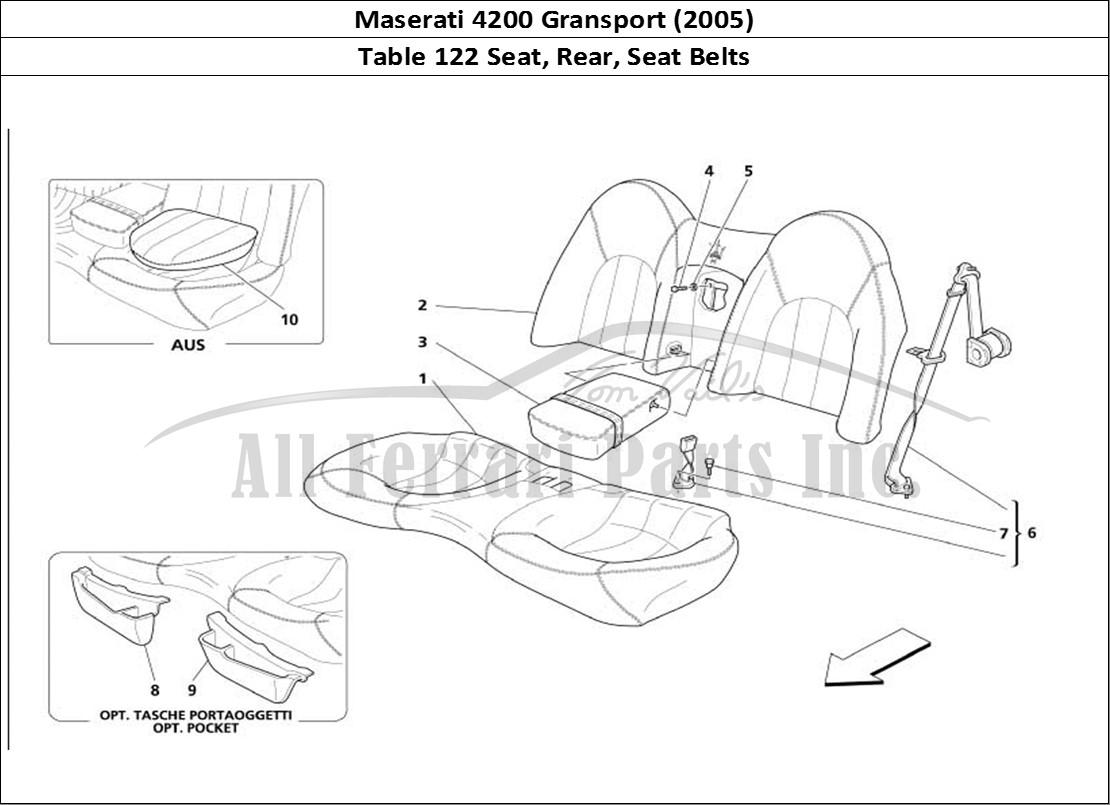 Buy Original Maserati Gransport 122 Seat Rear Seat Belts Ferrari Parts Spares